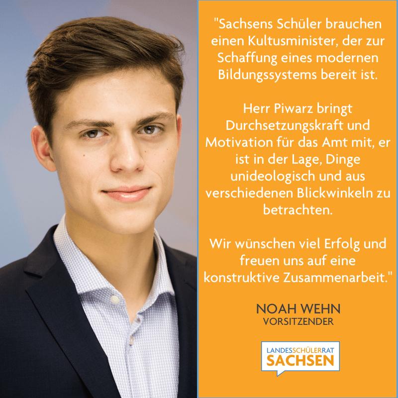 Statement Noah Wehn: Ernennung Kultusminister Christian Piwarz
